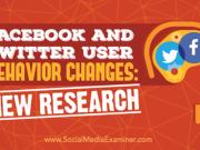 Facebook user behavior